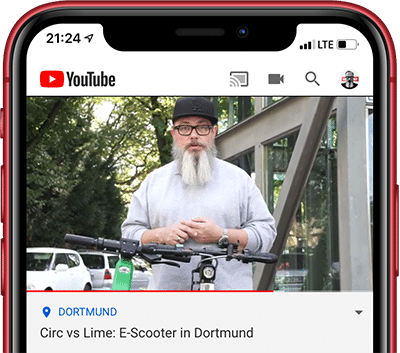 Circ vs. Lime: E-Scooter in Dortmund als Video auf YouTube